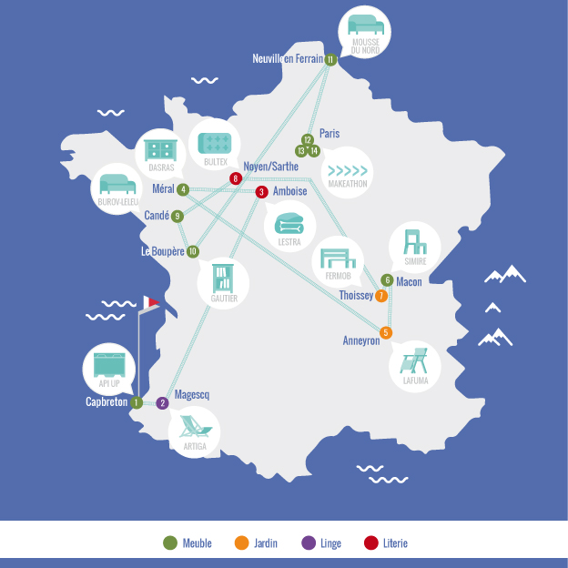 Tour du Made in France CAMIF 2016